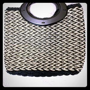 Vintage Madison Studio Straw Square Handbag